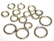 Round jump Rings - Rhodium Plated